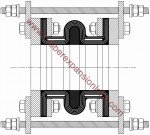 STF DWG Hatched Straight (Retaining Rings and Limit Rods Sold Seperatly)